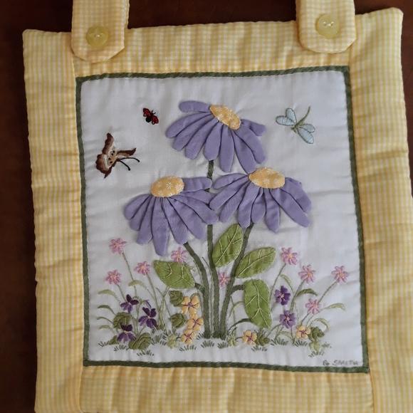 Handmade Crewel Embroidery Flowers